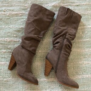 Charlotte Russe Taupe Tall Boots